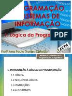 01 LP - 1ºano - Lógica da Programação