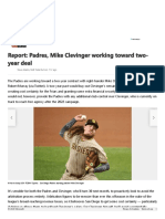 Report_ Padres, Mike Clevinger working toward two-year deal