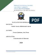 Concentracion de Minerales II (Alex Orosco Quintanaa)