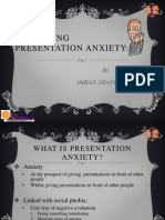 Anxiety Issues in GIVING Speech