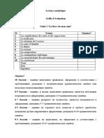 grille d'evaluation