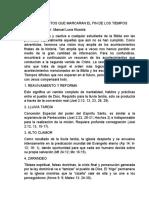 ACONTECIMIENTOS QUE MARCARÁN EL FIN DE LOS TIEMPOS