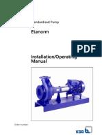 Etanorm KSB PUMP O&M Manual