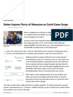 States Impose Flurry of Measures as Covid Cases Surge