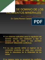 SISTEMAS DE DOMINIO DE YACIMIENTOS MINEROS