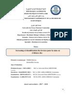 Screening et identification des levures pour la mise en évidence des enzymes à intérét industriel..pdf
