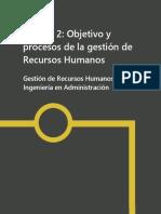 Unidad2. Objetivos y Procesos de Getsion de Rrhh