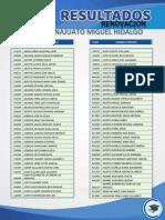 Resultados Beca Miguel Hidalgo Guanajuato