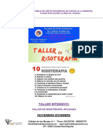 Teatro de La Sensacion-taller de Risoterapia Aplicada Con Ficha de Inscripión