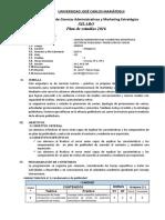SILABO GESTIÓN DE PUBLICIDAD Y PROMOCIÓN DE VENTAS