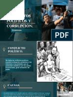Conflictos Políticos  y Corrupcion en Guatemal.