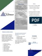 brochures para la empresa