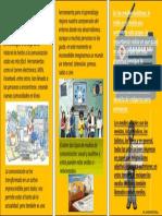 ACTIVIDAD N°3 PLEGABLE SOBRE EL IMPACTO QUE GENERAN LOS MEDIOS DE COMUNICACIÓN