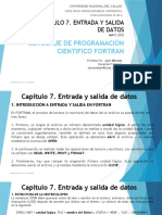 CAPITULO 7. ENTRADA Y SALIDA DATOS