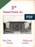 1985 Basic Catalogue of Plays Samuel French, Inc.