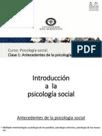 1. Clase 1 (Antecedentes psicologia social)