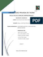 CASOS ESPECIALES EN LA APLICACIÓN DEL MÉTODO SIMPLEX (1)