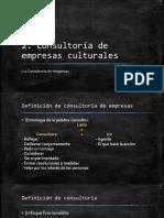 Consultoria de las empresas culturales