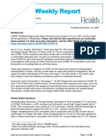 Oregon Health Authority COVID-19 weekly report (published Nov. 12)
