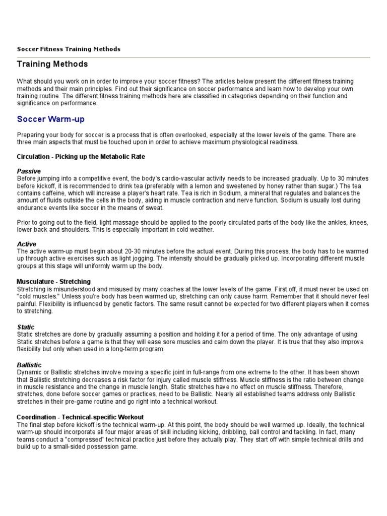 Soccer Fitness Training Methods | Strength Training