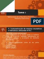 Tema 5 APLICACIONES DE LA NEUMATICA-ELECTRONICA E HIDRAULICA-ELECTRONICA