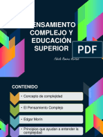 PENSAMIENTO COMPLEJO Y EDUCACION SUPERIOR