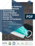 Preliminary Patterns in Circumstances Surrounding Opioid-Related Deaths in Ontario during the COVID-19 Pandemic