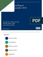 Presentation Year End Report Q4 2011