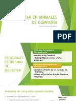 BIENESTAR EN ANIMALES DE COMPAÑÍA, TRABAJO, SILVESTRES Y LABORATORIO