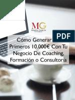 EBOOK Cómo Generar Tus PRimeros 10.000 Euros Con tu Negocio