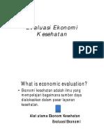 Evaluasi Ekonomi Kesehatan April 2020