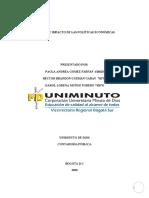 ACTIVIDAD No. 5 MATRIZ DE IMPACTO DE LAS POLÍTICAS ECONÓMICAS