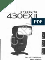 Canon 430EX II Speedlite Flash Owners Manual