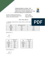 ADMINISTRAÇÃO FINANCEIRA II - ATIVIDADE 1 MODULO 2