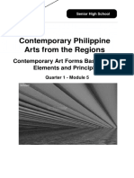 SHS12_Q1_Mod5_Contemporary Philippine Arts from the Regions Contemporary Art Forms Based on the Elements and Principles_v3