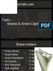 SHARES & SHARE CAPITAL FINAL ppt