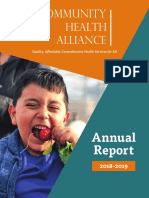 Community Health Alliance 2018-2019 Annual Report