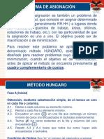 PROBLEMA DE ASIGNACION.