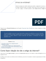 COMO FAZER CITAÇÃO DE SITE E ARTIGO DA INTERNET - guiadamonografia.com.br