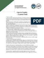 Guía de Estudios Examen final Principios del Derecho y Organización del Estado