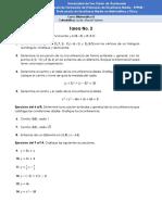 Tarea No.2 - Matemática II