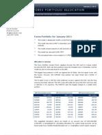 Forex Portfolio for January 2011