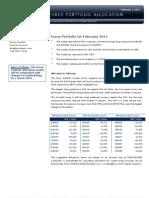Forex Portfolio for February 2011