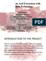 Techno Economic Feasibility Pomegranate Aril Extraction