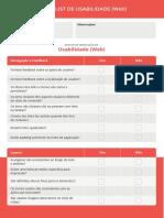 Checklist Usabilidade Web