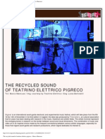 Digimag 49 - November 2009. The recycled sound of Teatrino Elettrico Pigreco