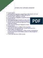 QCM D'anatomie+digestif