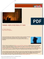 Digimag 11 - February 2006. Tmema, amplified reality and interactive gesture