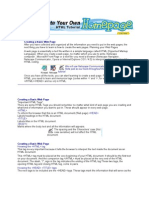 Creating a Basic Web Page