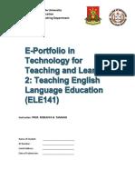 ELE141 E-PORTFOLIO